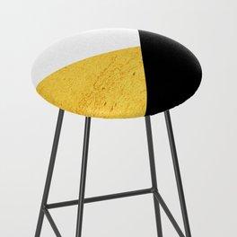 Gold & Black Geometry Bar Stool