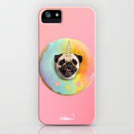 Unicorn Pug Pastel Donut iPhone Case
