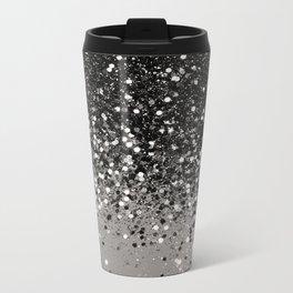 Silver Gray Glitter #1 #shiny #decor #art #society6 Metal Travel Mug