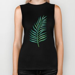 Palm Leaves_Bg White Biker Tank