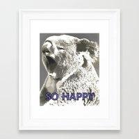 koala Framed Art Prints featuring Koala  by PureVintageLove