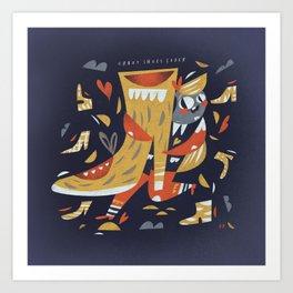 Crazy shoes lover Art Print