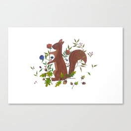 A Flower from Little Squirrel Canvas Print