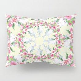 Circular Floral Pattern Pillow Sham
