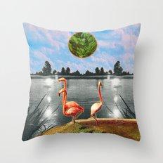 The flamingos Throw Pillow