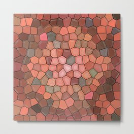Terracotta Mosaic Metal Print