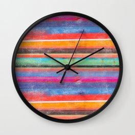 cosmic serape I Wall Clock