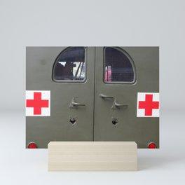 red cross Mini Art Print