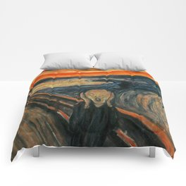 The Scream by Edvard Munch Comforters