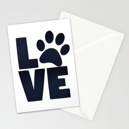 Love Pets Paw Cat Dog Cute Stationery Cards
