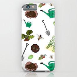 Gardening Print iPhone Case