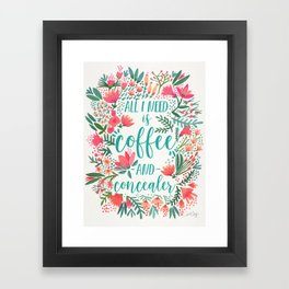 Coffee & Concealer – Juicy Palette Framed Art Print