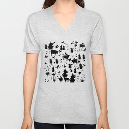 Cow Out In the Pasture by Lorloves Design Unisex V-Neck