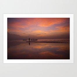 Holbox Island sunset Art Print