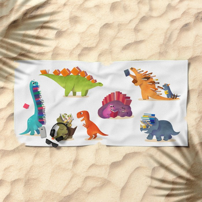 BOOK DINOSAURS Beach Towel
