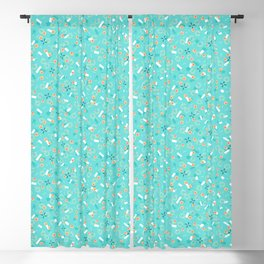 Candy Camouflage in Aquamarine Blackout Curtain