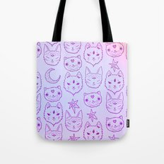 Kitty Mystics in Pink Tote Bag
