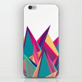 Triangles Intensive (White) iPhone Skin