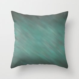 Abstract Soft Watercolor Gradient Ombre Blend 13 Teal, Blue, Green, and Black Throw Pillow