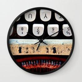 Macro Typewriter In Color Wall Clock