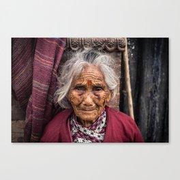 Kathmandu, Nepal Woman Canvas Print