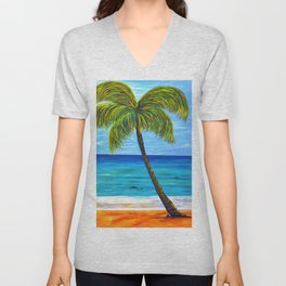 Maui Beach Day Unisex V-Neck