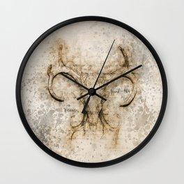 Skulled Oddity Wall Clock