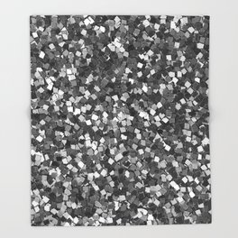 Dazzling Sparkles (Black and White) Throw Blanket