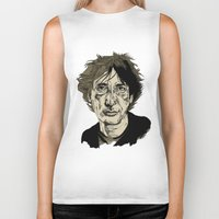 neil gaiman Biker Tanks featuring Neil Gaiman by Andy Christofi