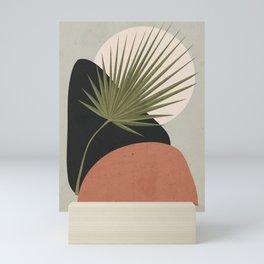 Tropical Leaf- Abstract Art 5 Mini Art Print