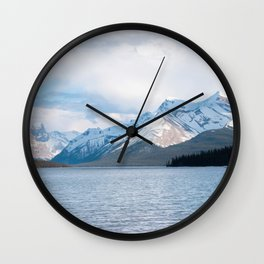 Snow Covered Mountain Photography Print Wall Clock