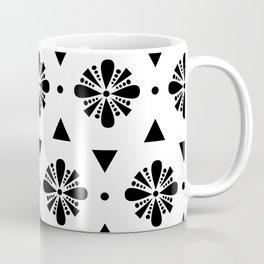 abstract geometric colorful flowers pattern Coffee Mug