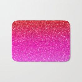 Red/Pink Glitter Gradient Bath Mat