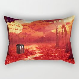 Tardis Autumn Tree Forest Rectangular Pillow