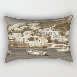 Oceanside in Mykonos Rectangular Pillow