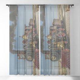 UP 119 Golden Spike Utah Steam Locomotive Historic Train Sheer Curtain