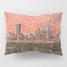houston city skyline Pillow Sham