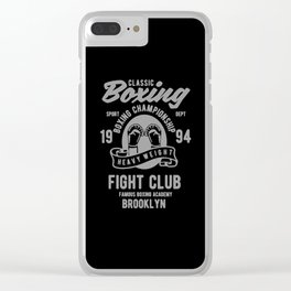 clasic boxing club Clear iPhone Case