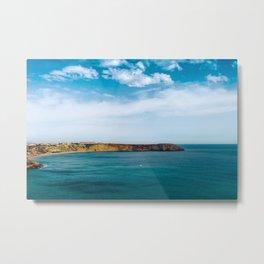 Ocean view from Fortaleza de Sagres, Portugal. Metal Print