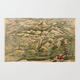 Map Of Afghanistan 1910 Rug