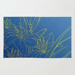 Day Lily Blue Rug