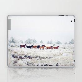 Winter Horse Herd Laptop & iPad Skin