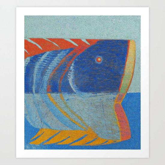 Tête de Poisson Art Print