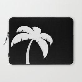 Palm Tree - Black and White Art Laptop Sleeve