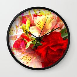 Abstract Alstomeria Wall Clock