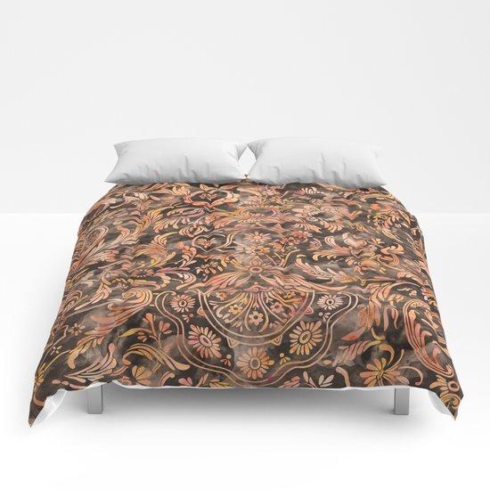 Damask Pattern 04 Comforters