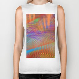 Colorful Carnival Lights Abstract Biker Tank