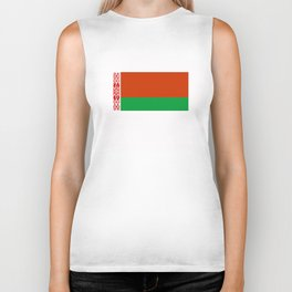 Belarus country flag Biker Tank