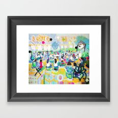 In the Light of Love, Mantras Framed Art Print