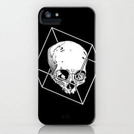 Skull in the Cube iPhone Case